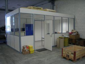 Fanair AG bietet auch alles im Bereich Werkstattbüros, Mehrzweckhäuser (Container), oder Pförtnerhäuser für Innen- und Aussenaufstellungen an.