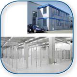 Lieferprogramm Mehrzweckhäuser, Werkstattbüros, Pförtnerhäuser, Container, Trennwände, Gittertrennwände, Bürotrennwände
